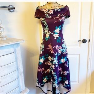 Hi-lo Off the Shoulders Floral Dress